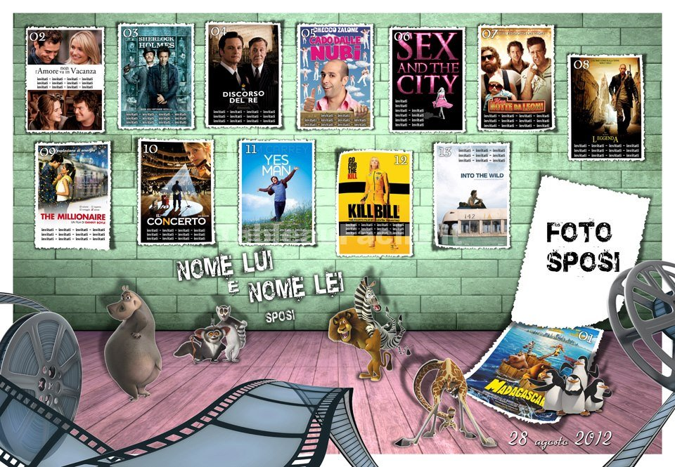 tableau cinema 3d con locandine film