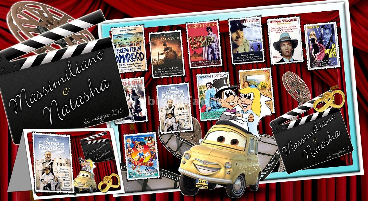 Top Tema FILM e CINEMA per un Tableau con foto sposi - Tableau  YZ96