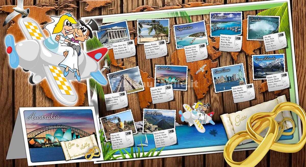 Matrimonio Tema Isole : Tema viaggi intorno al mondo per il tuo tableau de