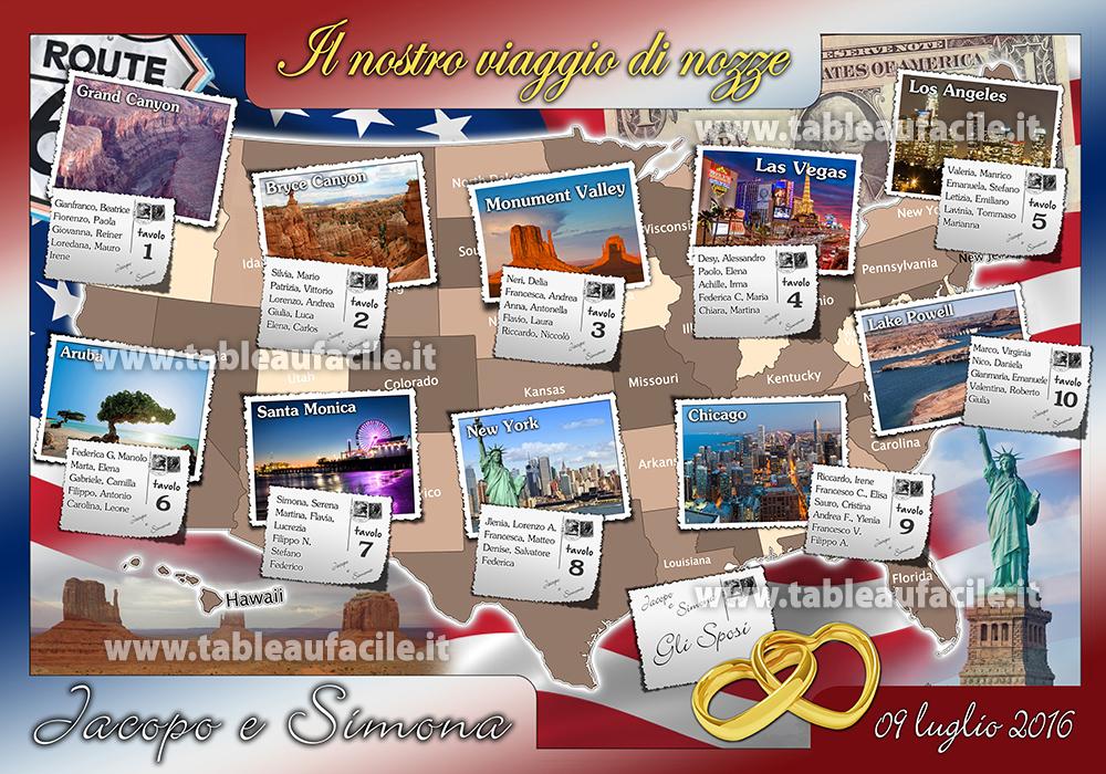 Matrimonio In America : Tableau viaggio di nozze in america vu
